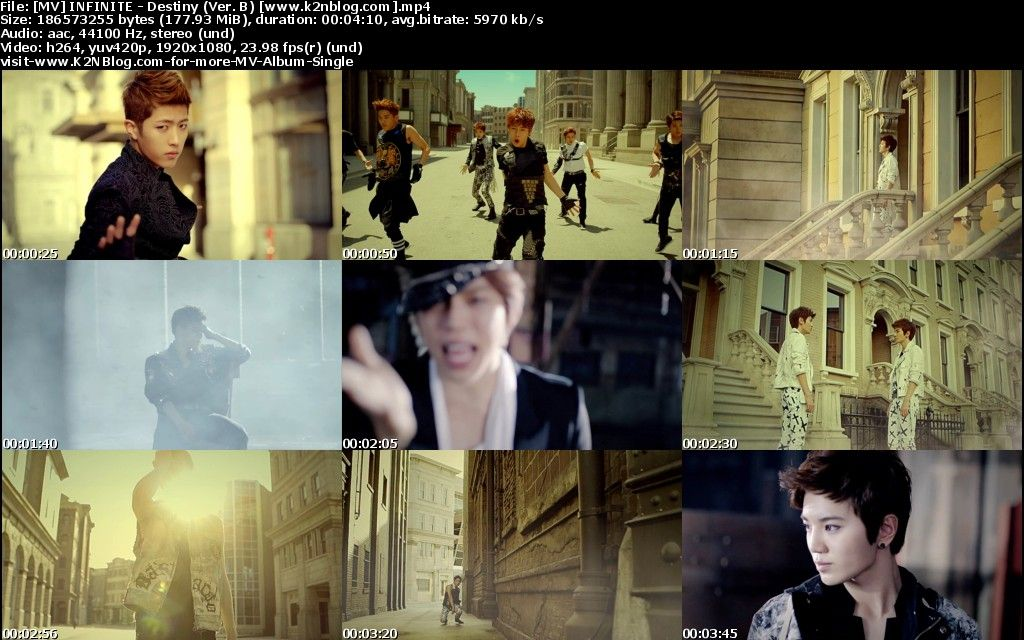 [MV] INFINITE   Destiny (Ver. B) [HD 1080p Youtube]
