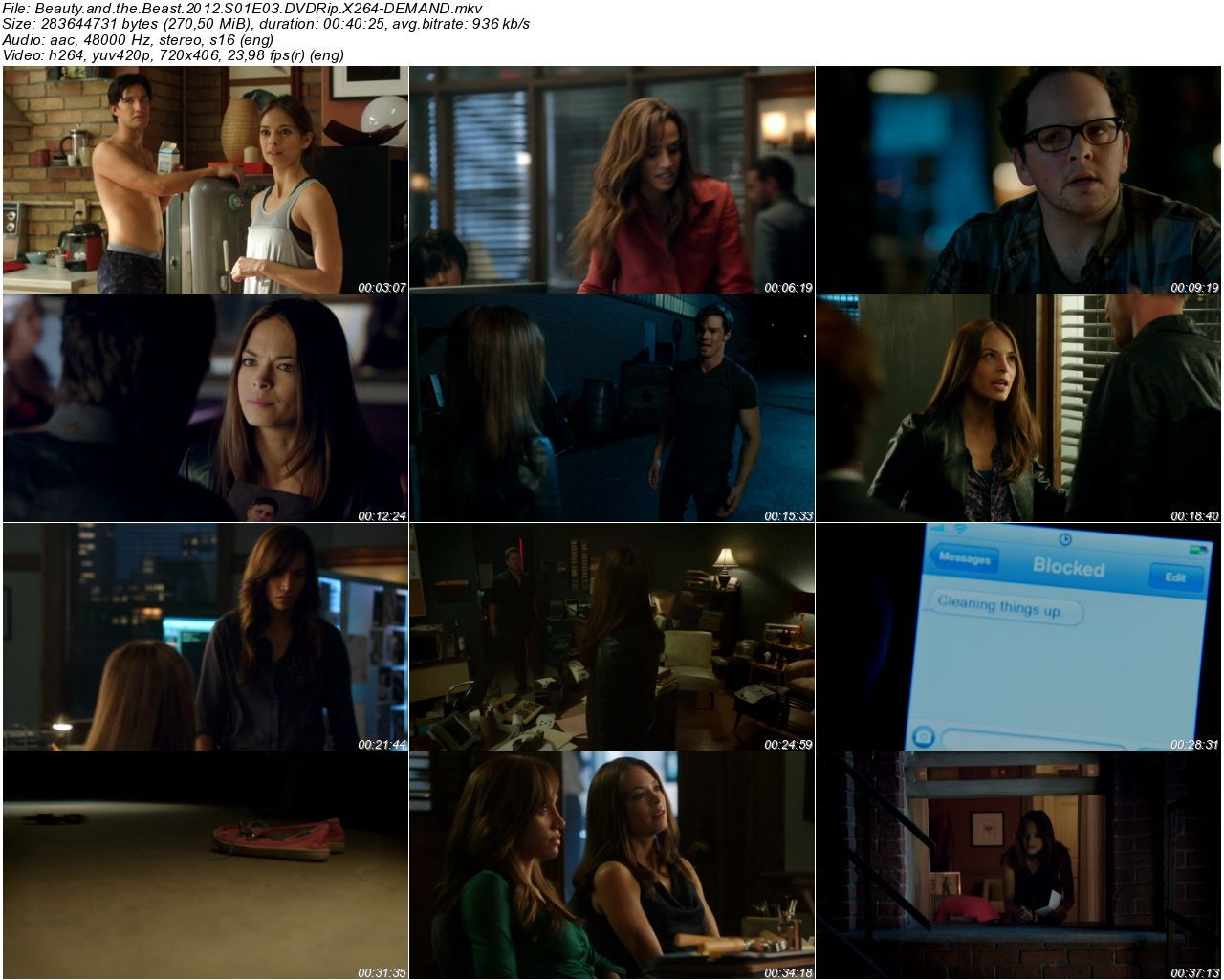 Beauty and the Beast 2012 1. Sezon T�m B�l�mler DVDRip x264 T�rk�e Altyaz�l� Tek Link indir