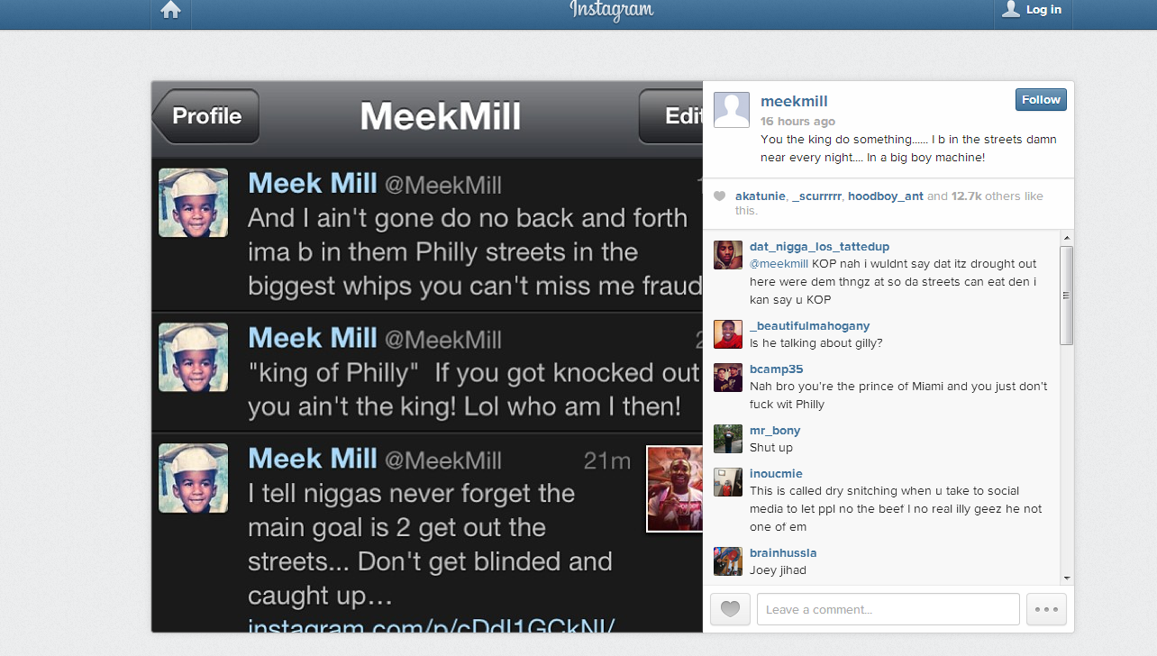 > If you the King of Philly do sumthin!...Meek responds - Photo posted in The Hip-Hop Spot | Sign in and leave a comment below!