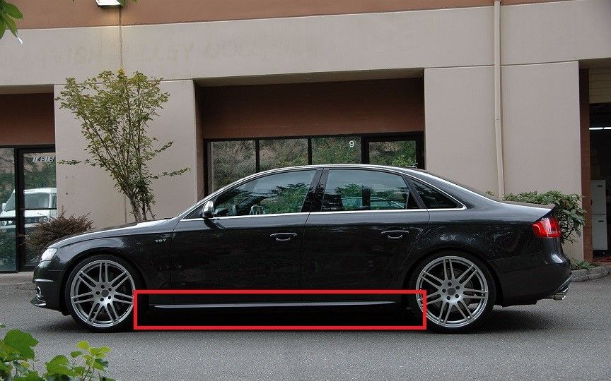 audi a4 b8 rs4 s4 s line look side skirts side bar new ebay. Black Bedroom Furniture Sets. Home Design Ideas