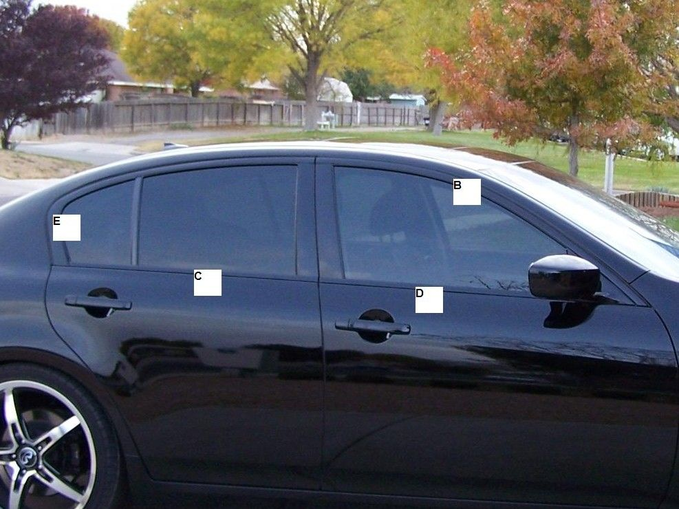 DIY~Window trim vinyl wrap 07-current Sedans - G35Driver - Infiniti